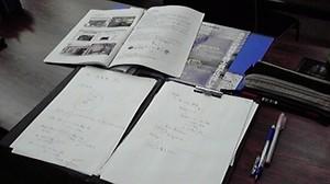 090830創業塾の机上.jpg