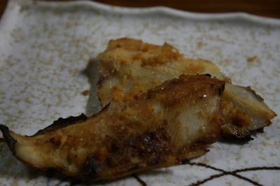 岩魚の味噌漬けの盛り付け例